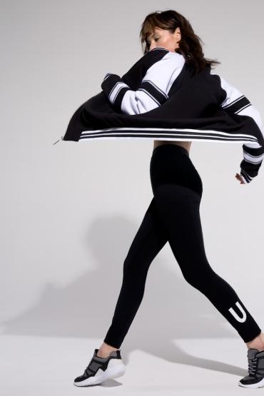 Бомбер оверсайз URA  SPORT&CHIC спорт-шик черный
