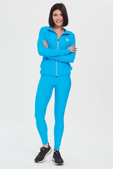Голубой костюм с лосинами
