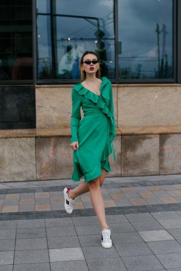 Платье URA зеленое
