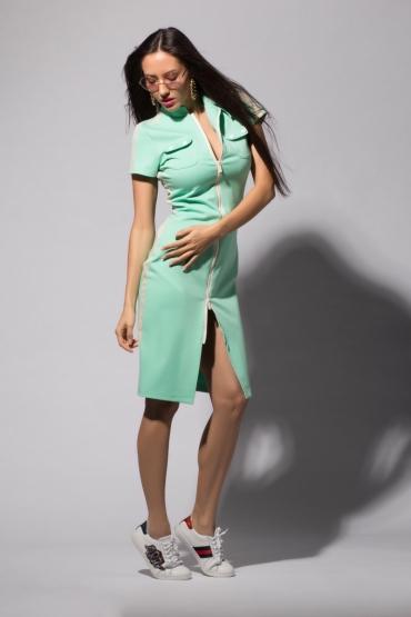 Платье URA с разъемной молнией мята