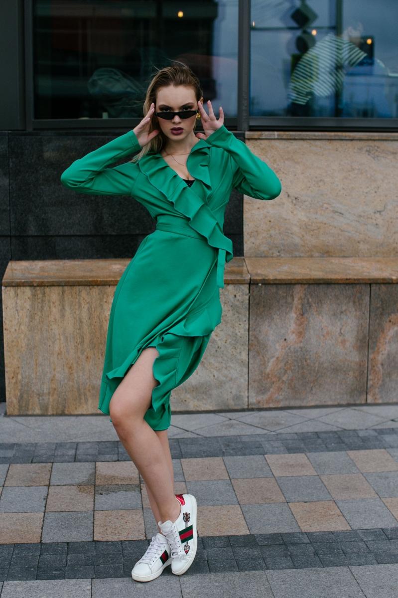 ПРЕДЗАКАЗ! Платье URA зеленое