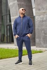 Мужской костюм синий деним