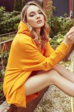 Худи оверсайз оранжевый Only U