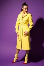 Пальто-плащь URA лимонное